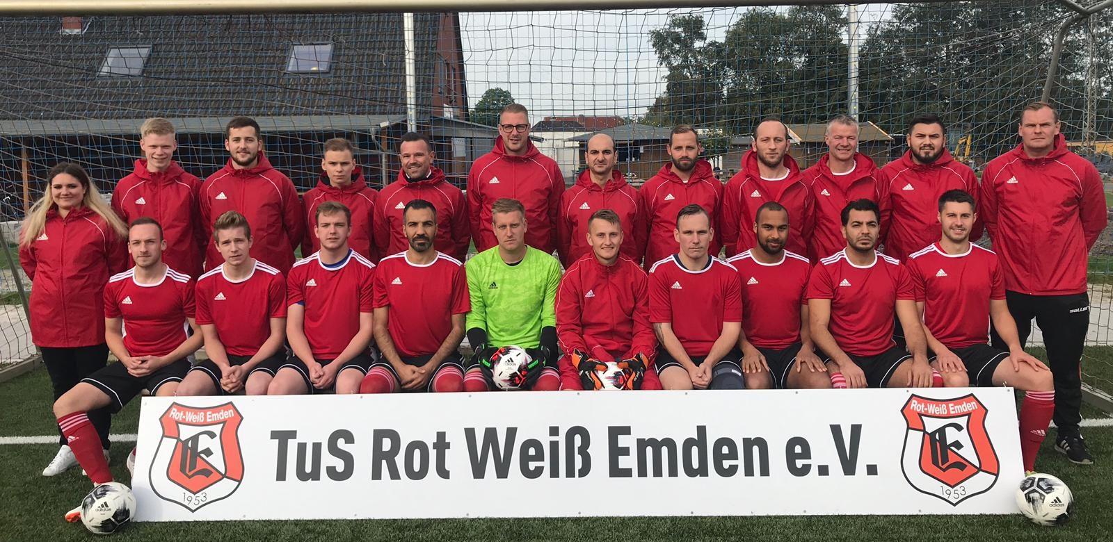 Mannschaftsfoto 2. Herren TuS Rot-Weiß Emden Saison 19/20